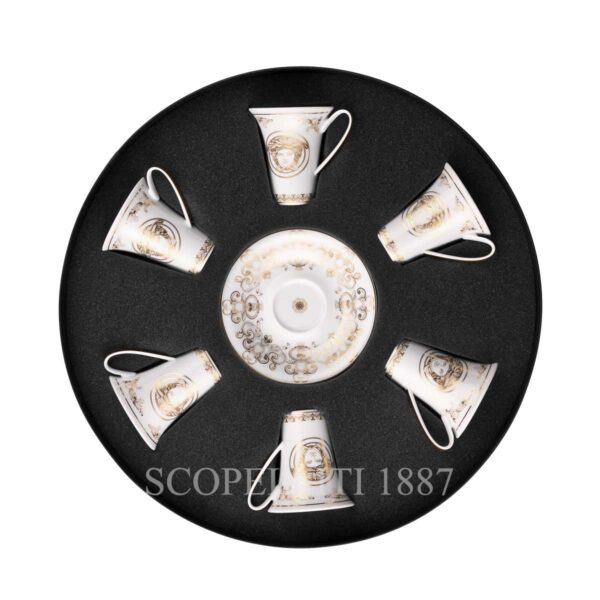 versace gift set of 6 espresso cups and saucers medusa gala