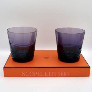 hermes attelage set of 2 crystal purple tumbler