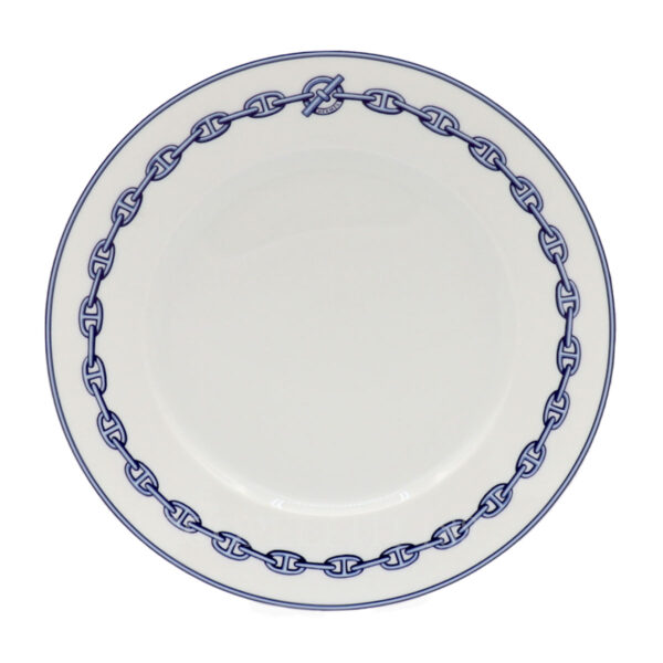 hermes chaine d'ancre bleu american dinner plate
