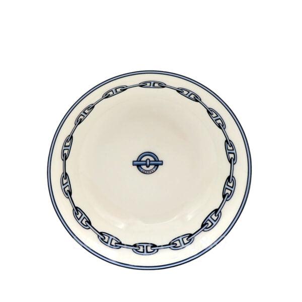 hermes chaine d'ancre bleu bowl