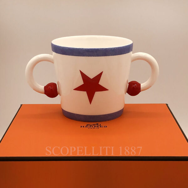 hermes circus double handled baby cup