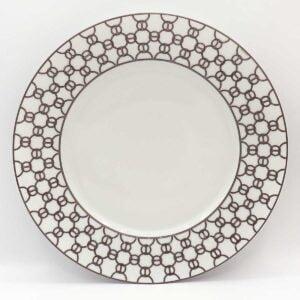 hermes fil d'argent blanc american dinner plate