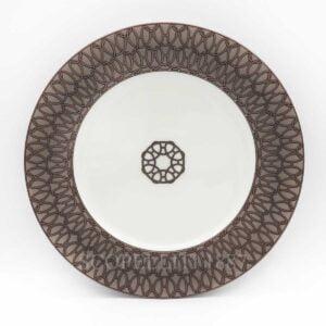 hermes fil d'argent gris dessert plate