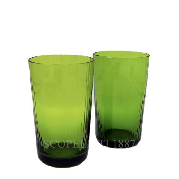 hermes quadrige set of 2 crystal green highball