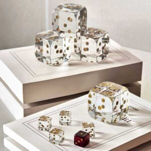 baccarat clear crystal dice