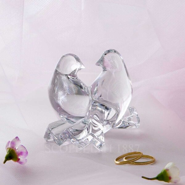 baccarat clear crystal doves