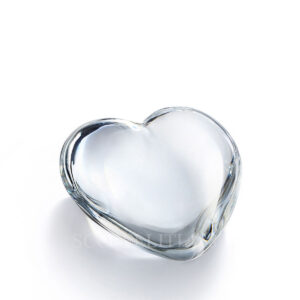 baccarat crystal clear cupid heart