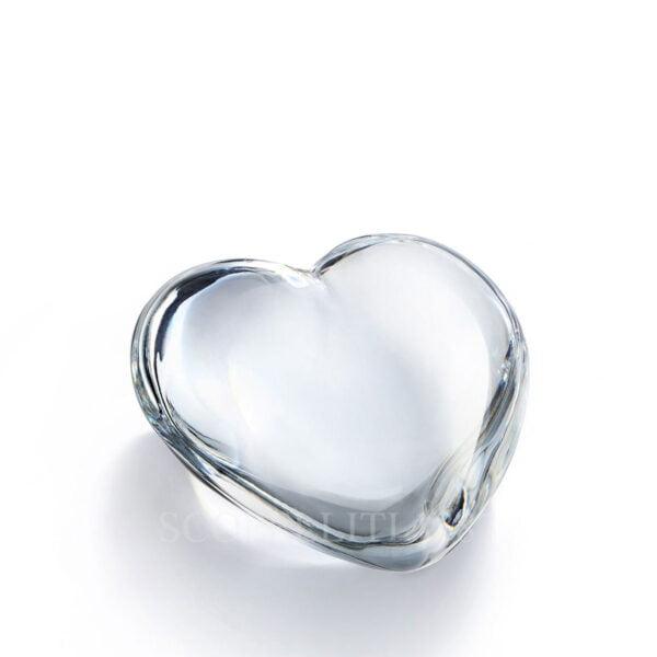 baccarat crystal clear cupid heart