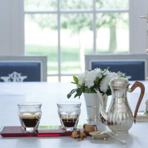 baccarat harcourt coffee cups and tray