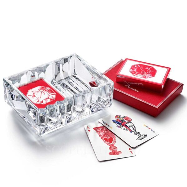baccarat louxor crystal vide-poche and poker card game