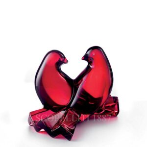 baccarat red crystal doves