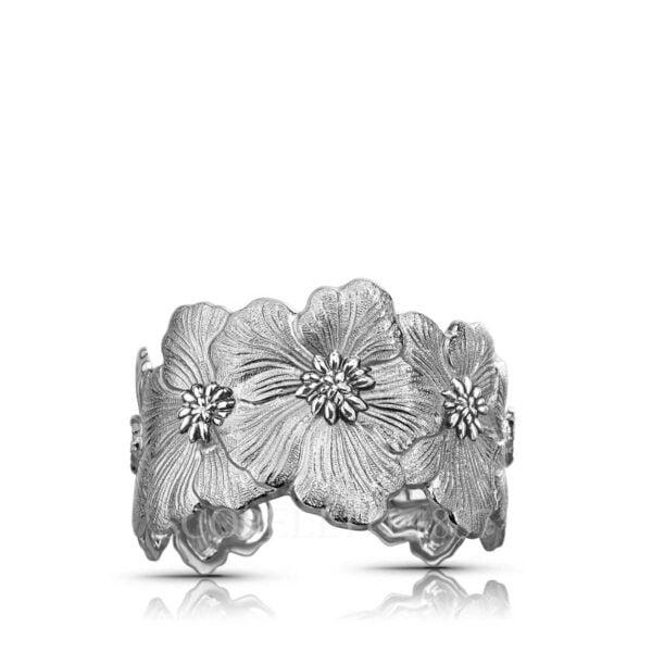 buccellati sterling silver bracelet gardenia blossoms