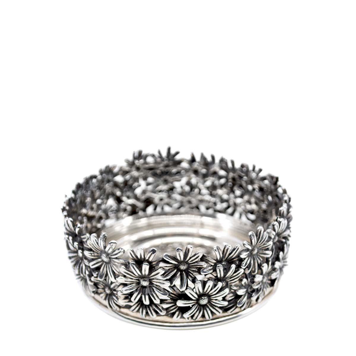 raspini silver coaster daisies