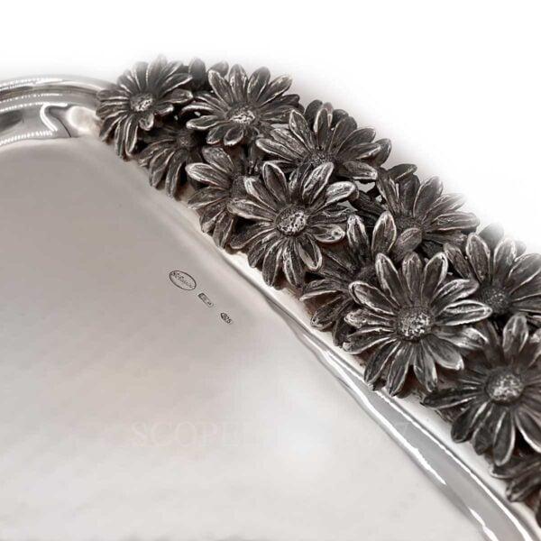 raspini silver tray daisies
