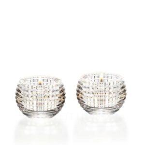 baccarat crystal clear eye votive set