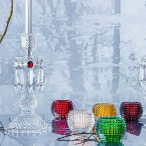 baccarat crystal red eye votive set