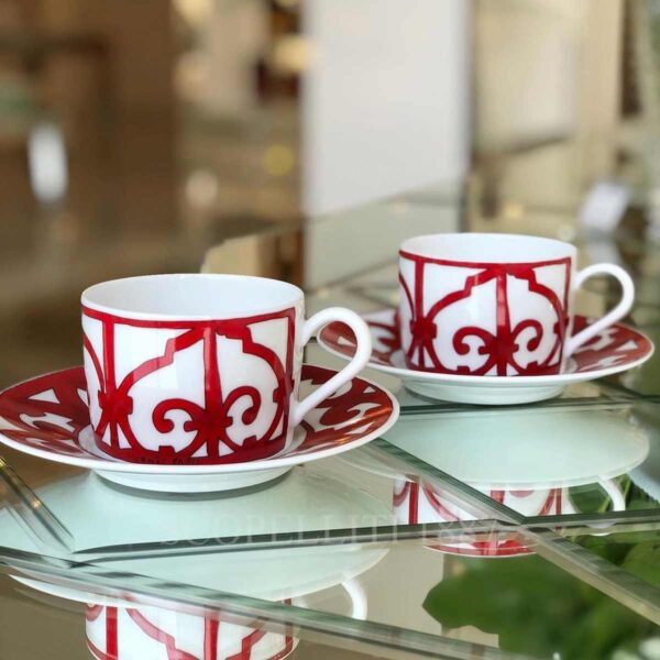 hermes balcon du guadalquivir set of 2 tea cups