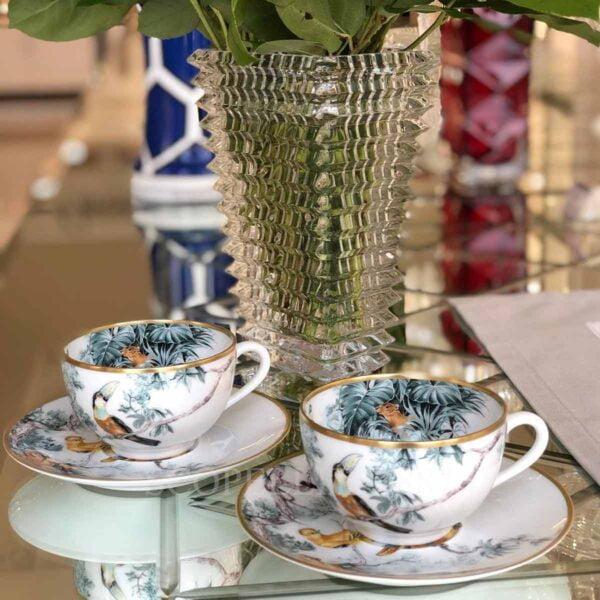 hermes carnets d'equateur set of 2 tea cups