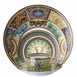 versace barocco mosaic 5 piece place setting