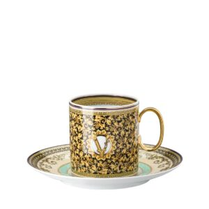 versace barocco mosaic coffee cup and saucer