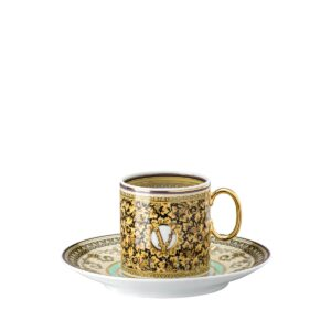 versace barocco mosaic espresso cup and saucer