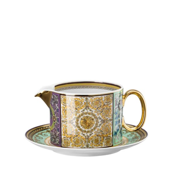 versace barocco mosaic sauce boat and saucer