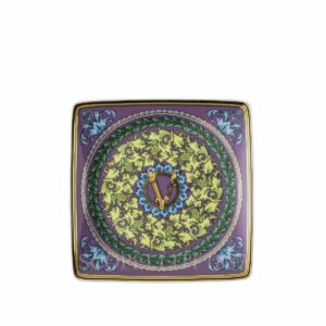 versace barocco mosaic small square dish 12 cm