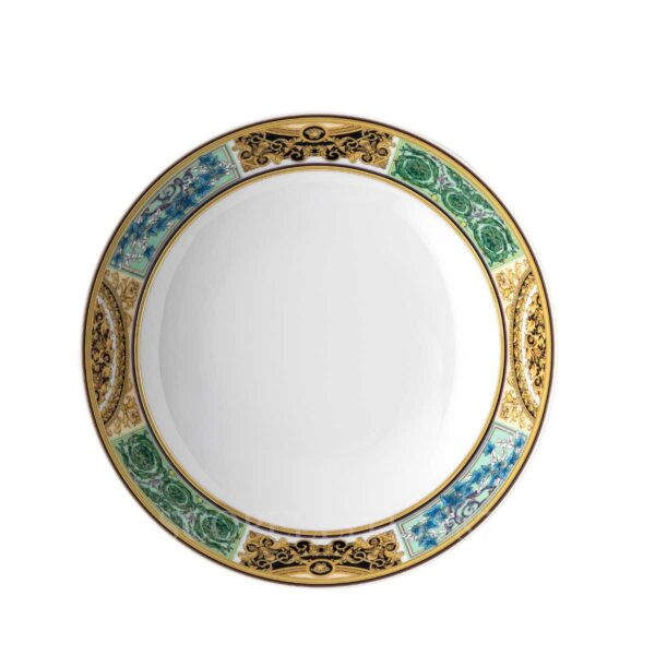 versace barocco mosaic soup plate