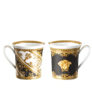 versace i love baroque set of two mugs