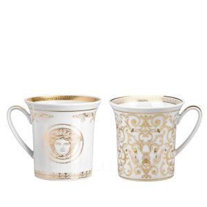 versace medusa gala set of two mugs