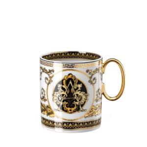 versace virtus alphabet mug