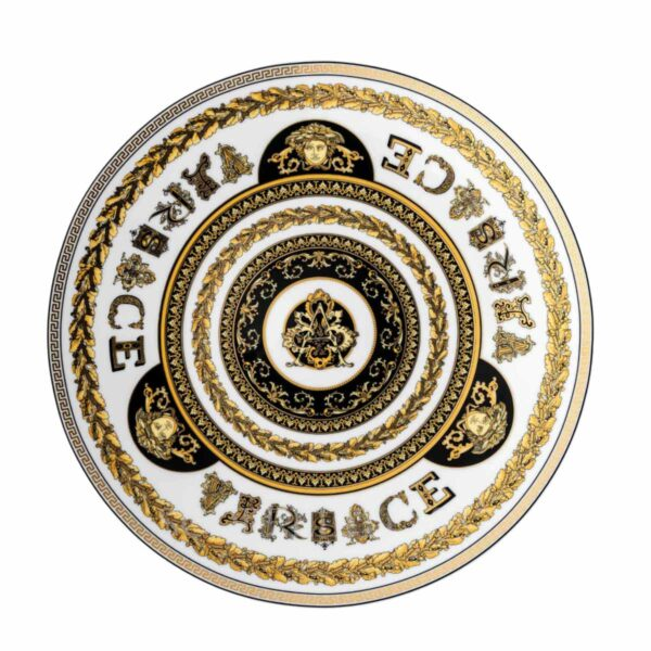 versace virtus alphabet service plate 33 cm