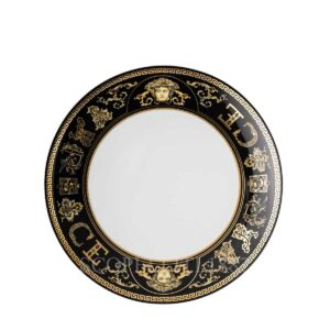 versace virtus gala black dessert plate 21 cm