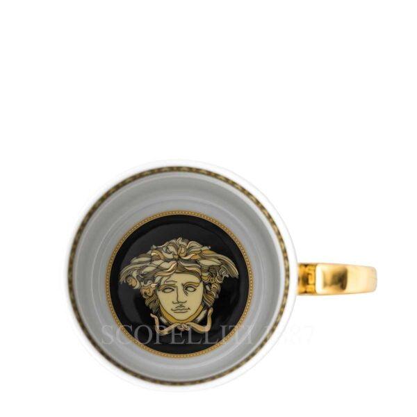 versace virtus gala black mug