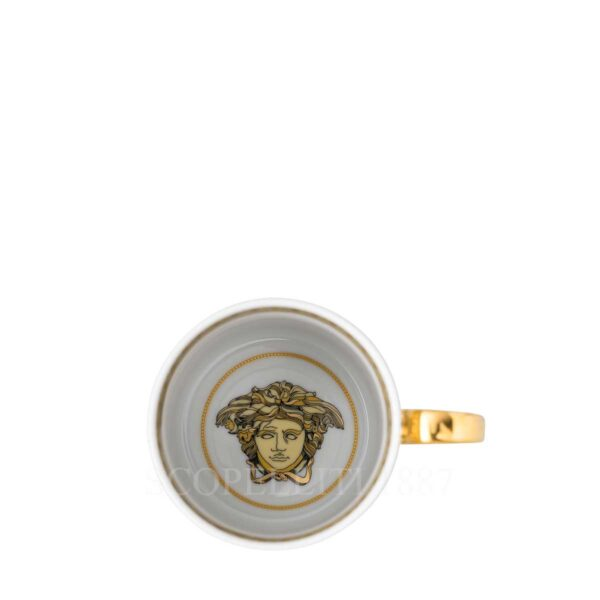 versace virtus gala white espresso cup
