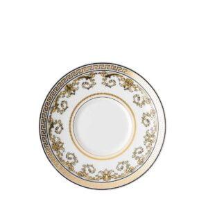 versace virtus gala white espresso saucer