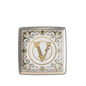 versace virtus gala white square dish 12 cm