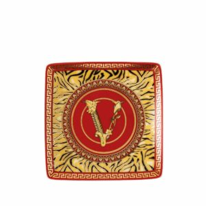 versace virtus holiday small square dish 12 cm
