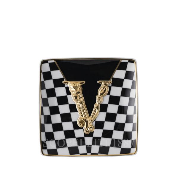 versace virtus square dish 12 cm