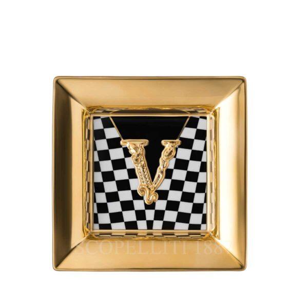 versace virtus square dish 18 cm