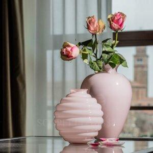 venini murano rose vase