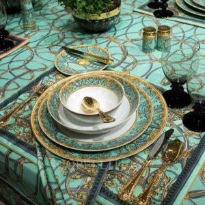 versace la scala del palazzo green dinnerware
