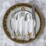 versace medusa cutlery silver plated set