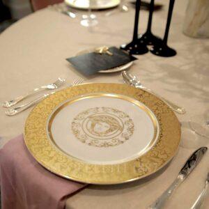 versace plate medusa gala gold