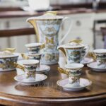 versace teapot and cups le jardin de versace
