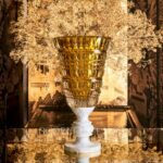baccarat antique vase amber limited edition