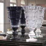 baccarat antique vase black and clear limited edition