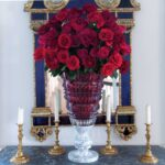 baccarat antique vase red limited edition