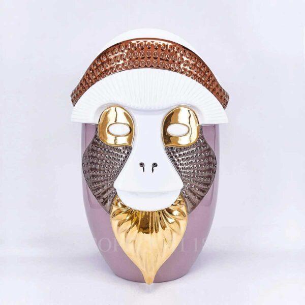bosa brazza vase pink white primates collection