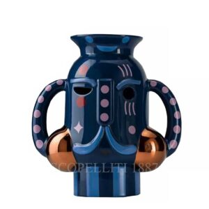 bosa king vase peacock blue baile collection
